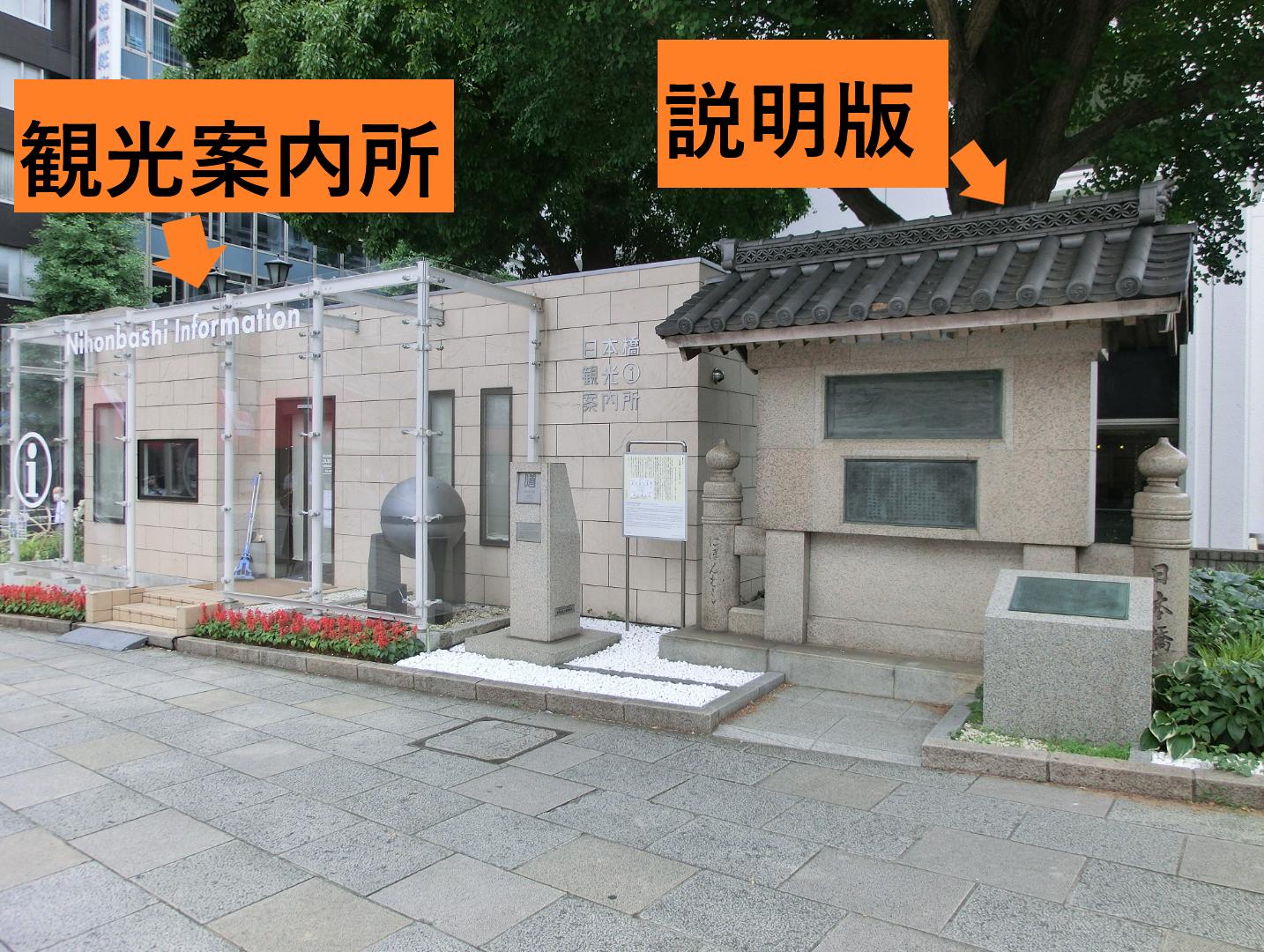 説明版と観光案内所 橋梁としての日本橋3