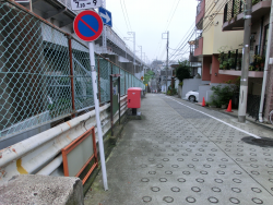 馬込橋 右の坂道 臼田坂散策2