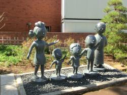 桜新町一丁目緑地 サザエさん一家の銅像1 桜新町・深沢散策6