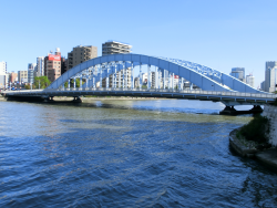 豊海橋から見た永代橋 新川散策1