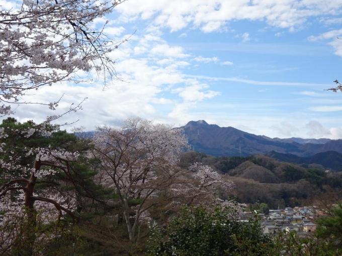 宮崎公園から稲含山