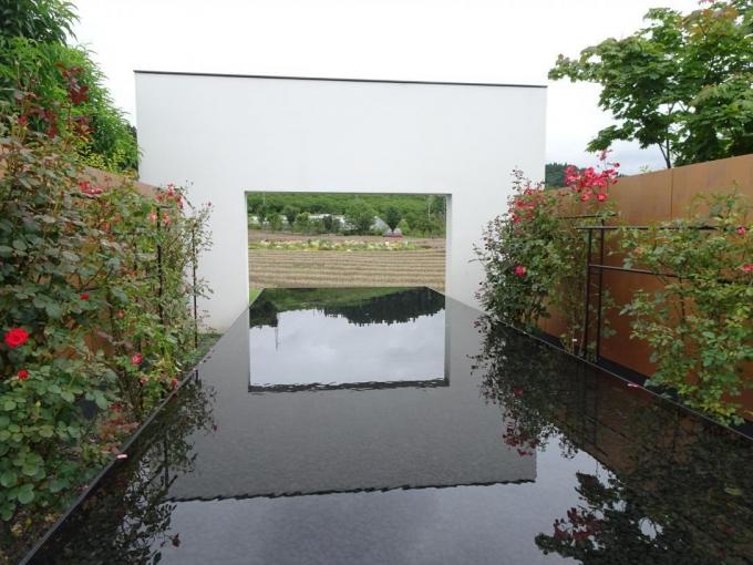 水のある園