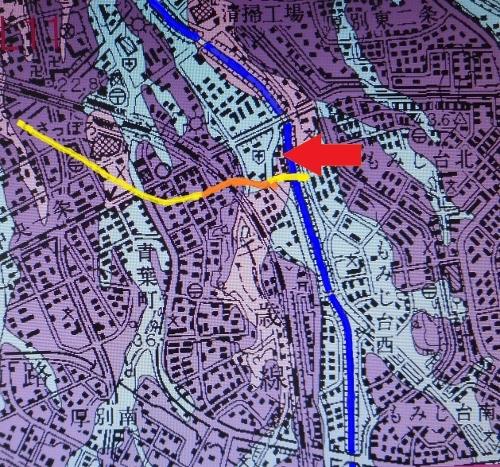 産総研 地盤地質図 市道下野幌線 下野幌のっぽろがわ公園付近