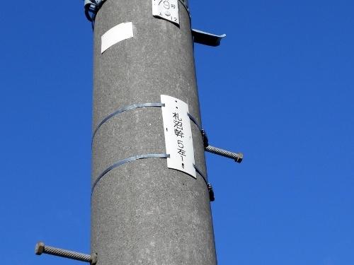 電柱「札沼幹」 西区八軒