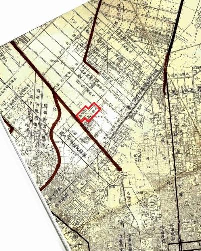 札幌市河川網図 1973年 新川周辺 再掲