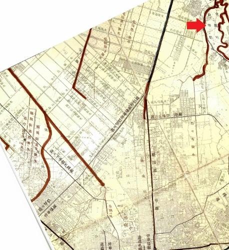札幌市河川網図 1973年 旧琴似川