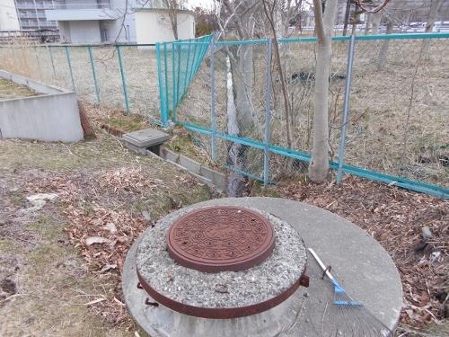 武蔵短大 外周通路-3 暗渠、側溝