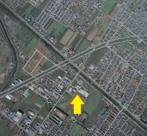 空中写真 1976年 新川下水処理場
