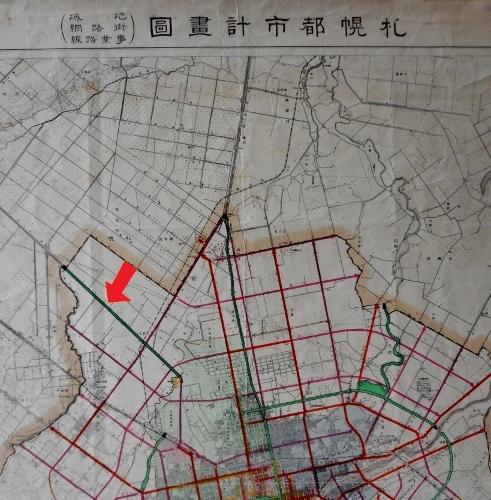 昭和12年札幌都市計画図 新川周辺