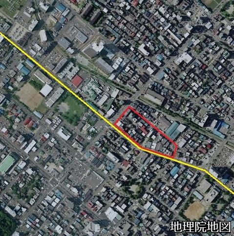空中写真 2008年 豊平区・白石区区界特異点