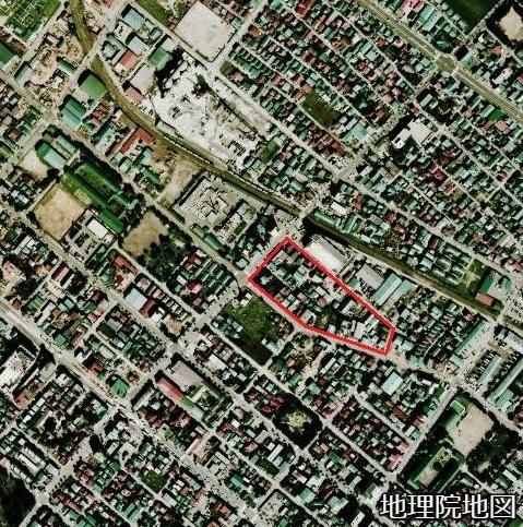 空中写真 1976年 豊平区・白石区区界特異点