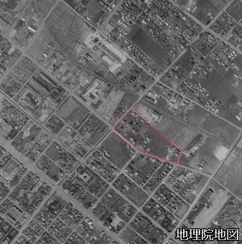空中写真 1961年 札幌市白石町・豊平町境界特異点