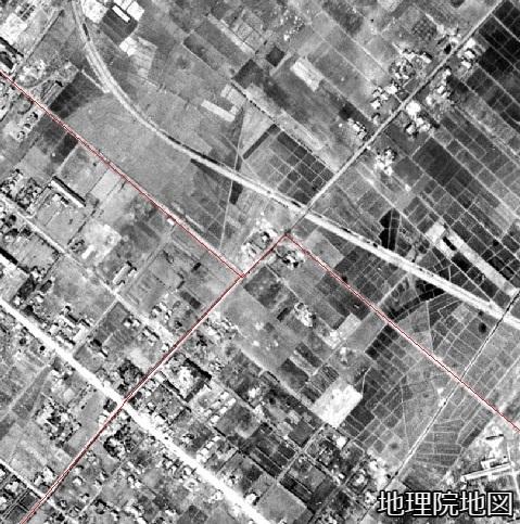 空中写真 1948年 白石村・豊平町・札幌市境界