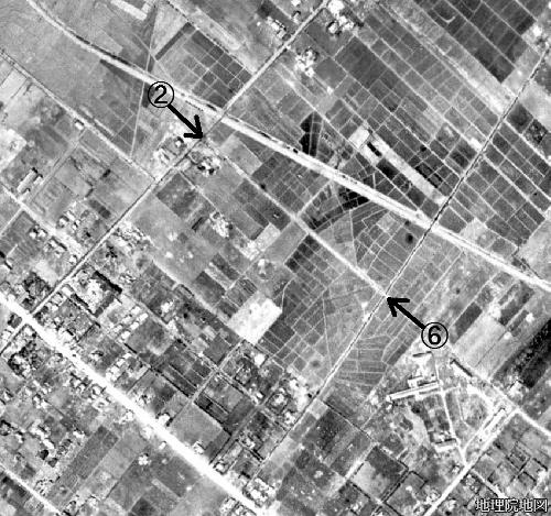 空中写真1948年 美園特異点②⑥ 旧東北通