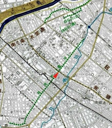 札幌市河川網図 1号用水(豊平)