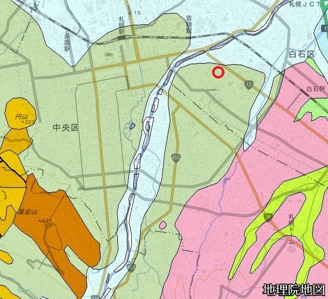 産総研シームレス地質図1/20万 トイシカラメム