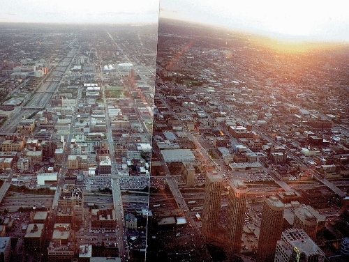 シカゴ シアーズタワーからの眺め ウエストサイド