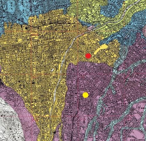 産総研地質地盤図 ボーリング調査地点(菊水、平岸)