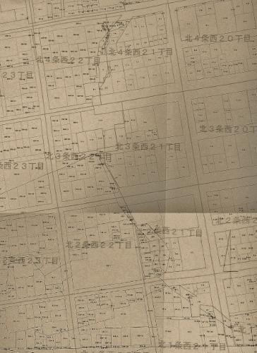地番図 北1-4条西20-22丁目 元図
