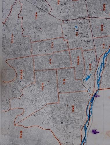 札幌市行政区域図 1957年 中心部