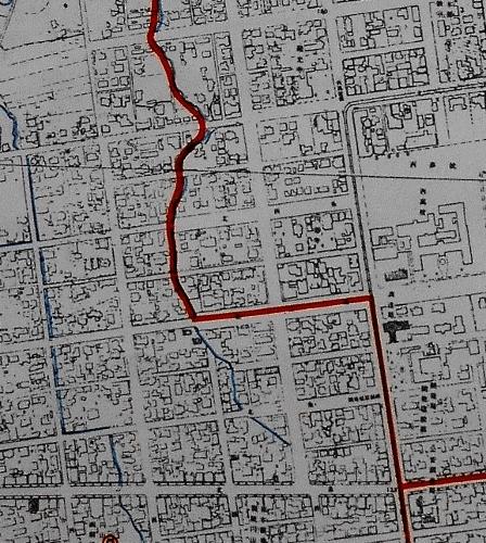 札幌市行政区域図 1957年 桑園区、北円山区境目あたり-拡大