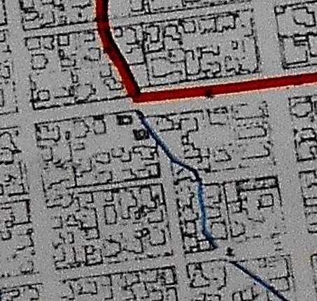 札幌市行政区域図 1957年 北2条西21、22丁目付近