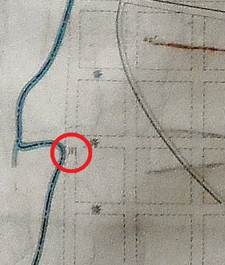 札幌市視形線図 琴似川の「川」の箇所