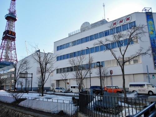 NHk札幌放送局 新館側