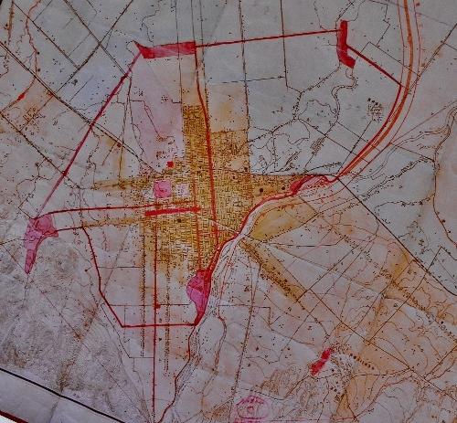 大札幌市区域及地域設定略図附公園広路計画図 中心部拡大
