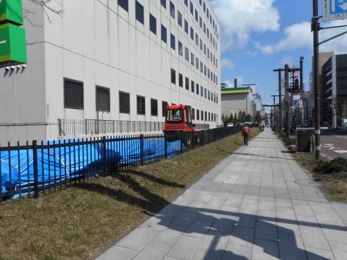 市立札幌病院跡 2014年 北1条・宮の沢通側