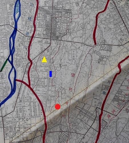 札幌市河川網図1973年 小泉川?