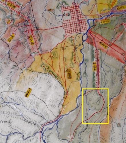 札幌郡各村地図 抜粋 平岸村のあたり