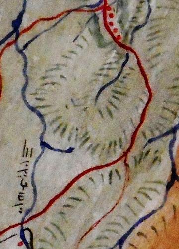 札幌郡各村地図 抜粋 平岸村南端から精進川のあたり 拡大