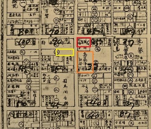 最新調査札幌明細案内図1928年 南3東2あたり再掲 島口商事