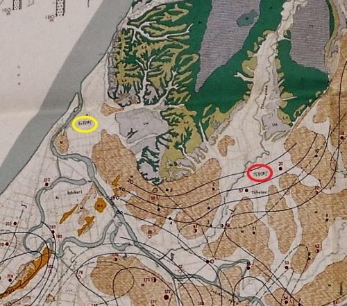 北海道水理地質図幅 1964年 石狩町から当別町あたり