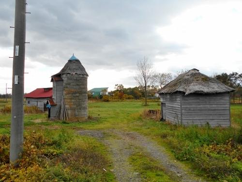 石狩 八幡 茅葺のサイロと納屋