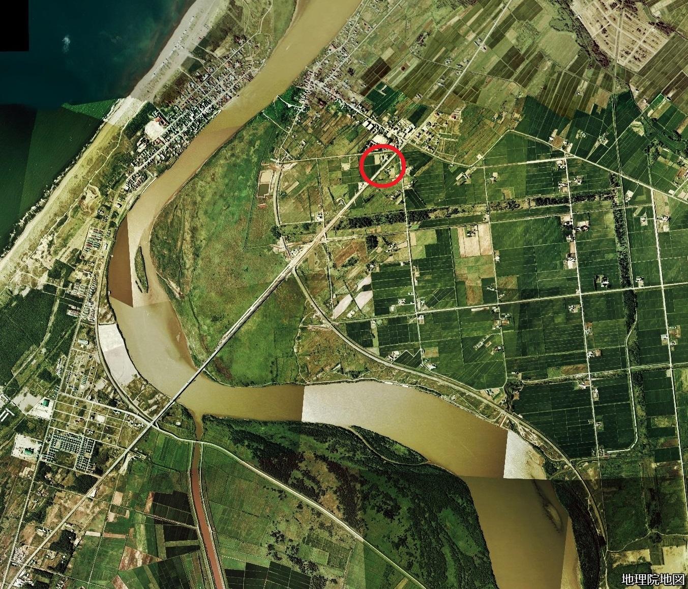 空中写真1976年 北生振