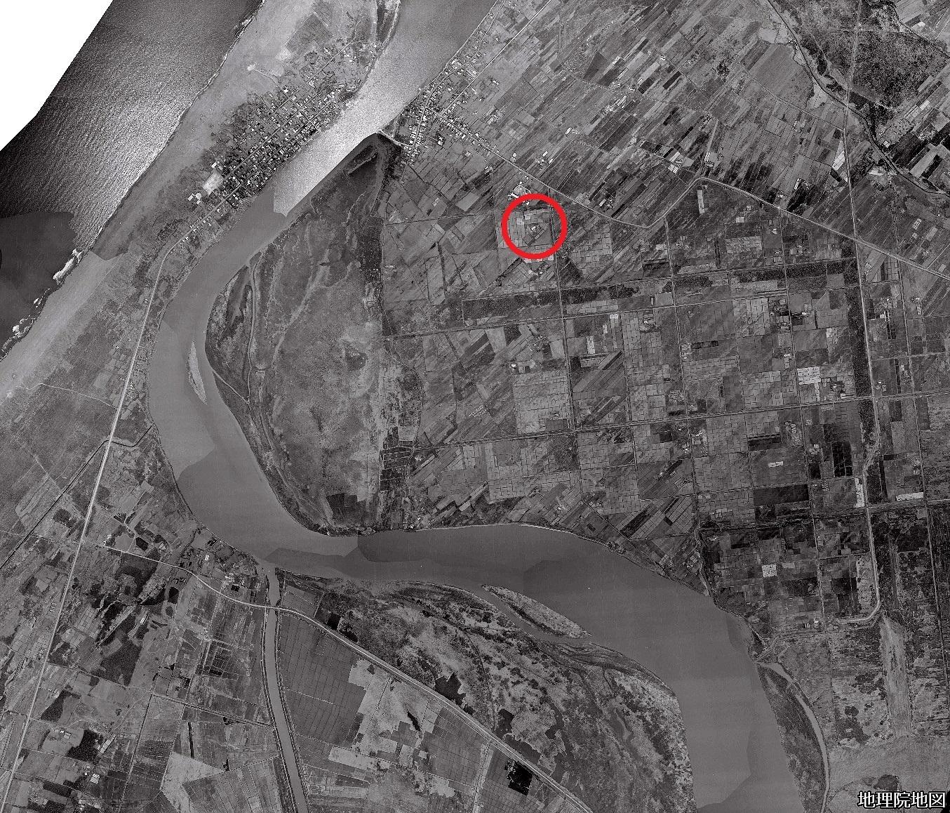 空中写真1961年 北生振