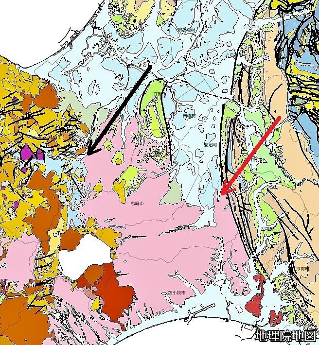 シームレス地質図 千歳市キウス 南区石山