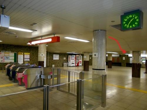 地下鉄琴似駅コンコース 天井-2
