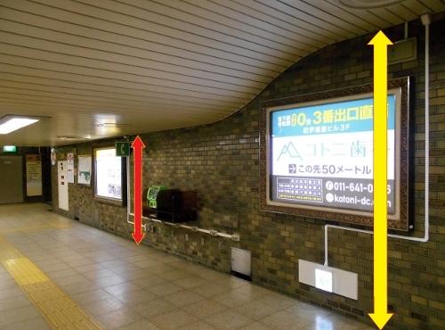 地下鉄琴似駅コンコース 天井-4