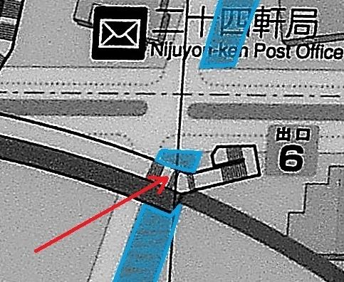 地下鉄二十四軒駅 案内図 6番出口階段の位置 拡大
