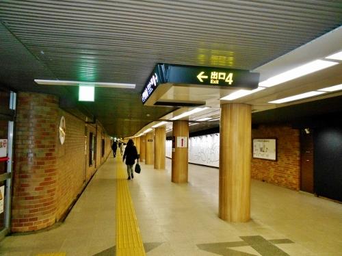 地下鉄バスセンター前駅 地下通路 4番出口付近