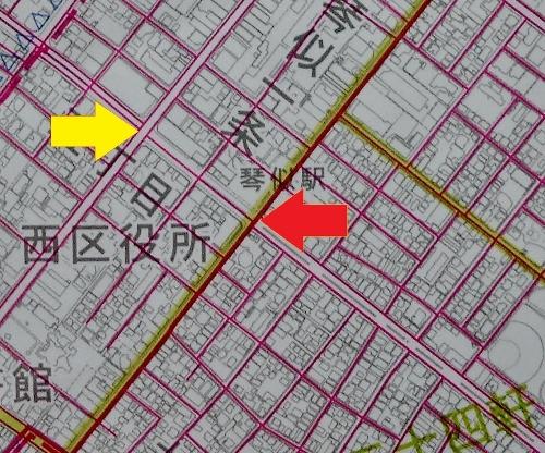 札幌市下水道築造図 地下鉄琴似駅付近