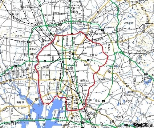 名古屋市 昭和戦前期の市域
