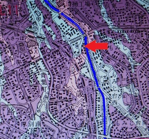 産総研 地盤地質図 野津幌川 下野幌のっぽろがわ公園付近