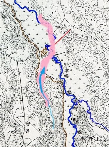 地形図 1916年測図1918年発行「月寒」 野津幌川「まるやま」付近蛇行 泥炭地