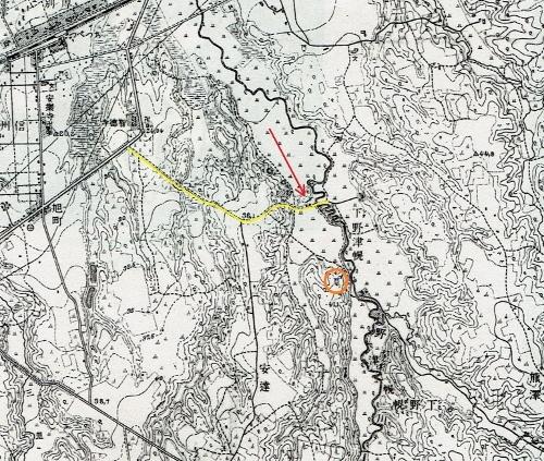 地形図 1916年測図1918年発行「月寒」 下野幌の古道