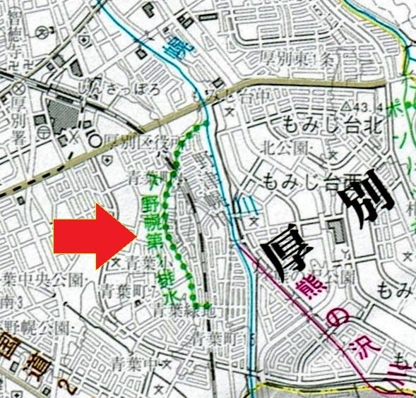 河川網図 下野幌第一排水