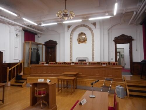 札幌市資料館 刑事法廷展示室